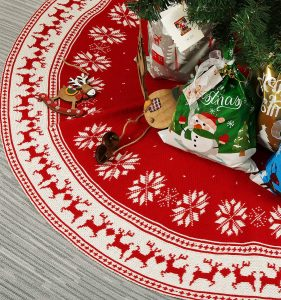 Aitsite Snow Flower Christmas Tree Skirt