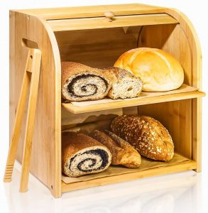 2 Layer Of Wooden Bread Box