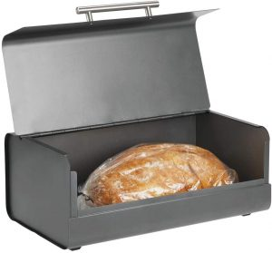 Stainless Steel Bread Box For Kitchen Countertop From mdesign