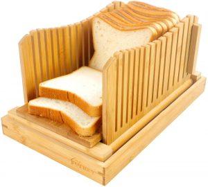 Foldable Wooden Bread Loaf Slicer From PURENJOY
