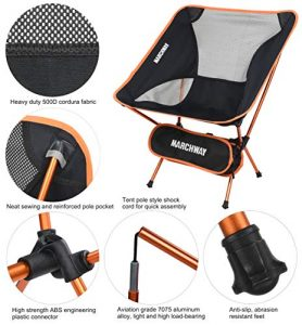 MARCHWAY Mitipurpose Portable Lightweight Camping Chair