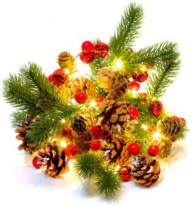 Homekaren Wonderful Christmas Garland with String Lights