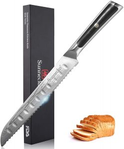 Ultra-Sharp Bread Slicer With Damascus