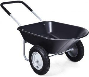 Goplus Wheel Barrel For Heavy-Duty