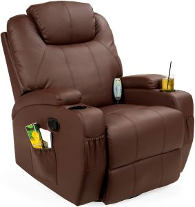 Faux Leather Swivel Electric Massage Chair