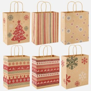 Christmas Gift Bag With Sturdy And Durability