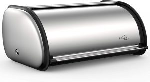 Stainless Steel Bread Box For Kitchen Countertop