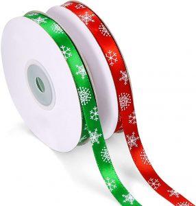 Melliex 50 Yards Christmas Ribbon