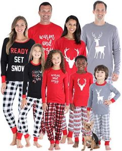 SleepytimePJs Christmas Family Mix and Match Red Holiday PJs