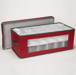 551RED Large Christmas Ornament Storage