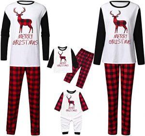 PopReal Merry Christmas Emblazoned Family Pajamas