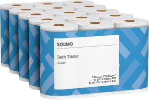 Amazon Brand - Solimo 2-Ply Toilet Paper