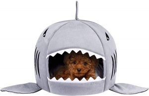 Shark house cozy cave dog beds for small dogs