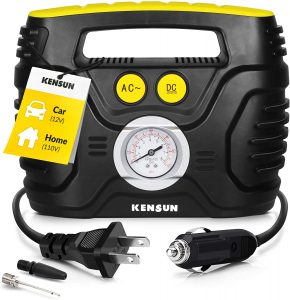 Kensun AC/DC Tire Inflator Portable Air Compressor Pump