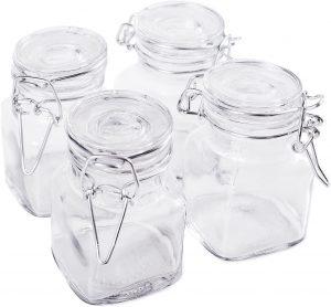 Glass 3oz Jar with Hinge Glass Lid