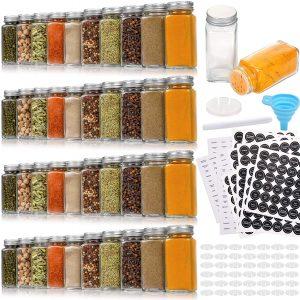 42 Pcs Glass Spice Jars