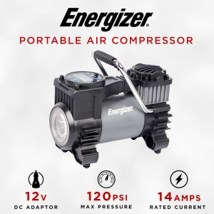 Energizer Portable Air Compressor with 120 Max PSI