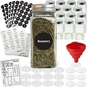 14 Glass Spice Jars